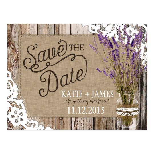 Lavender and Lace Rustic Wood Planks Save the