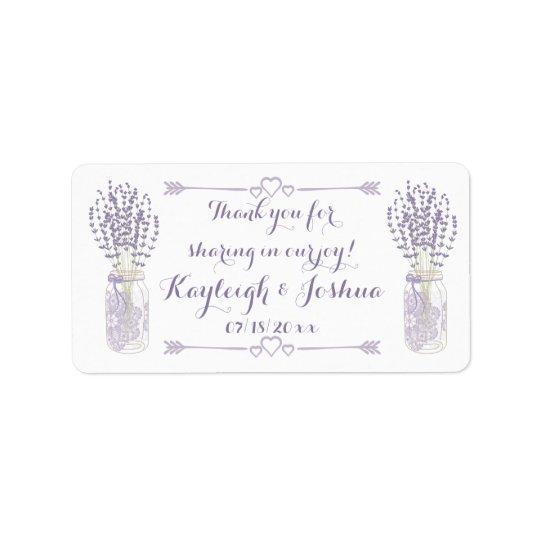 Lavender and Lace Wedding Favour Labels