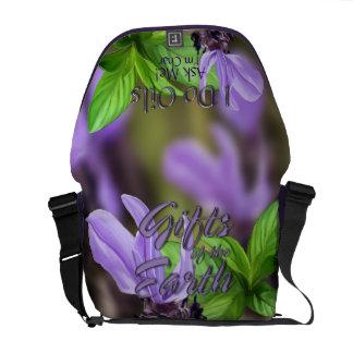 "Lavender and Peppermint ""I Do Oils"" Messenger Bag"