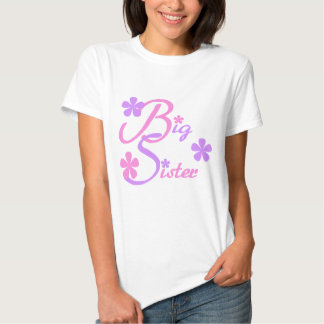 Lavender and Pink Big Sister Tshirts and Gifts