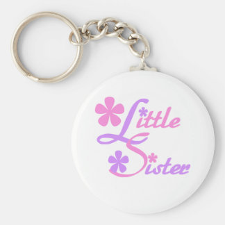 Lavender and Pink Little Sister Key Ring
