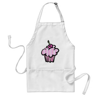 lavender and pink stripes cupcake standard apron