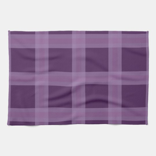 Lavender And Purple Plaid Pattern Dish Towel