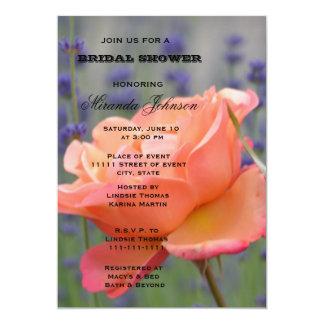 Lavender and Rose Bridal Shower 13 Cm X 18 Cm Invitation Card