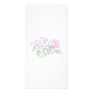 Lavender and Rose Hydrangeas Customised Photo Card