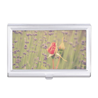 Lavender and Roses Business Card Cases