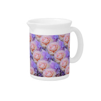 Lavender and Roses Pitcher