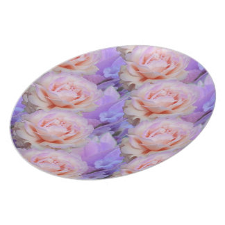 Lavender and Roses Plate