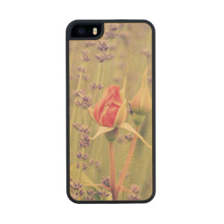 Lavender and Roses Carved® Maple iPhone 5 Case
