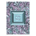 Lavender and Teal Blue Wedding RSVP Invite
