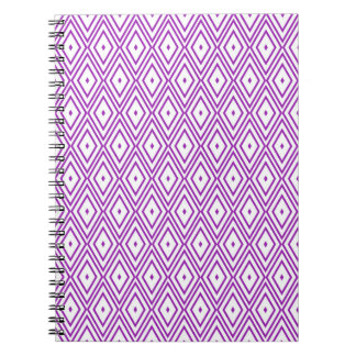 Lavender and White Diamond Pattern Note Books