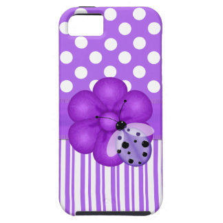 Lavender and White Girlie iPhone Case