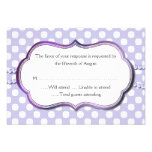 Lavender and White Polka Dot Response Card Personalised Invites