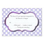 Lavender and White Polka Dot Response Card Personalised Invites