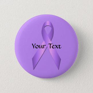 Lavender  Awareness Ribbon Button Template