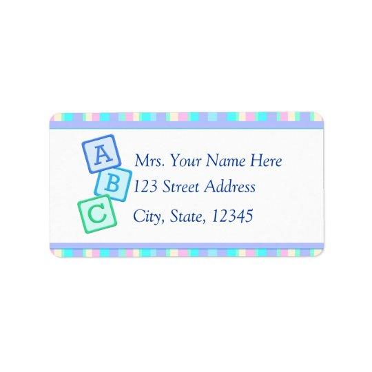 Lavender Baby Address Lables Label