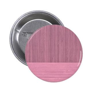Lavender Bamboo Border Wood Grain Look 6 Cm Round Badge