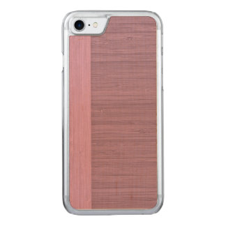 Lavender Bamboo Border Wood Grain Look Carved iPhone 7 Case