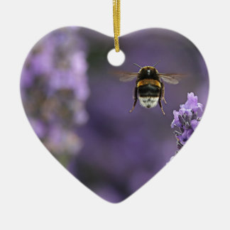 Lavender bee christmas ornament