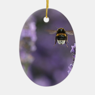 Lavender bee christmas ornament