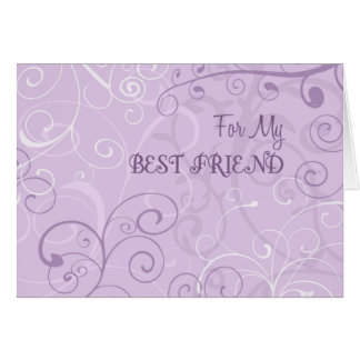 Lavender Best Friend Thank You Maid of Honor Card