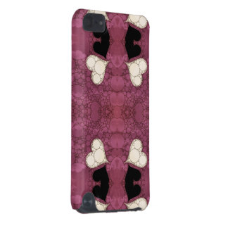 Lavender Black Heart Abstract iPod Touch (5th Generation) Covers