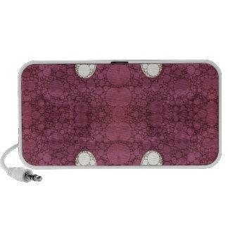 Lavender Black Heart Abstract Mp3 Speaker