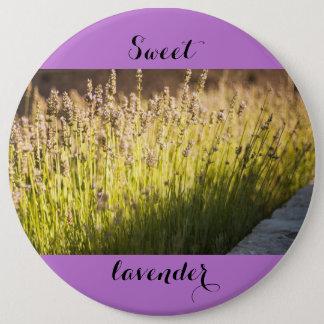 Lavender blooming 6 cm round badge