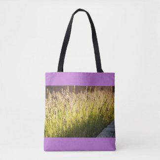 Lavender blooming tote bag