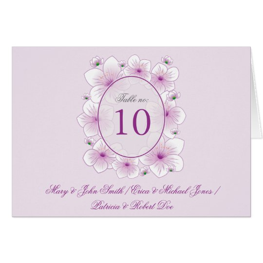Lavender Blossom Flowers Romantic Table Place Card