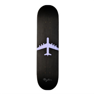 Lavender Blue Airplane Skate Board