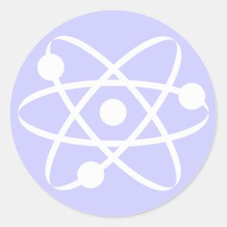 Lavender Blue Atom Classic Round Sticker