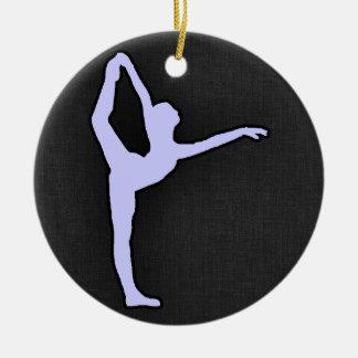 Lavender Blue Ballet Dancer Ornaments