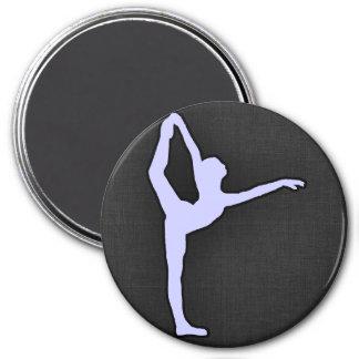 Lavender Blue Ballet Dancer Magnets