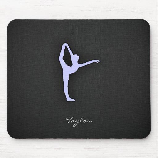 Lavender Blue Ballet Dancer Mouse Pads