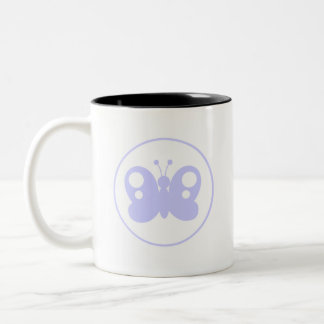 Lavender Blue Butterfly Two-Tone Mug