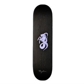 Lavender Blue Capricorn Custom Skate Board