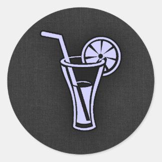 Lavender Blue Cocktail Round Sticker