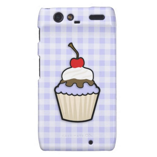 Lavender Blue Cupcake Motorola Droid RAZR Cover