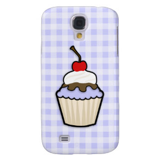 Lavender Blue Cupcake Galaxy S4 Cases