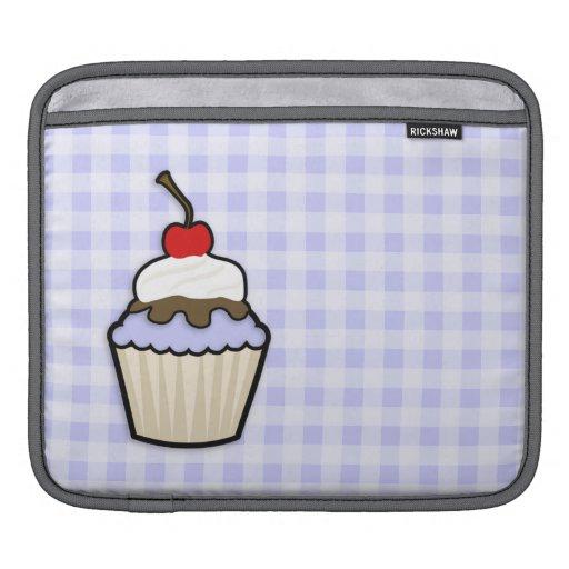 Lavender Blue Cupcake iPad Sleeve