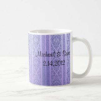 Lavender & Blue Damask Mug