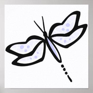 Lavender Blue Dragonfly Print