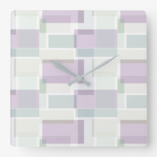 Lavender Blue for You Square Wall Clock