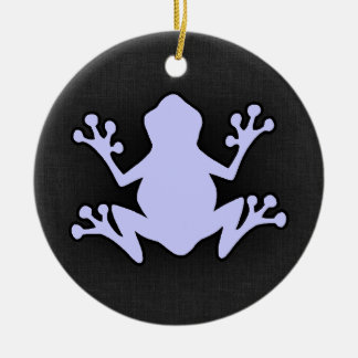 Lavender Blue Frog Round Ceramic Decoration