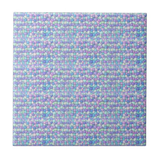 Lavender, Blue, Green Mosaic  Ceramic Tile 2