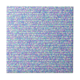 Lavender, Blue, Green Pastel Mosaic  Ceramic Tile