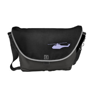 Lavender Blue Helicopter Messenger Bags