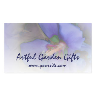 Lavender Blue Hibiscus Business Cards