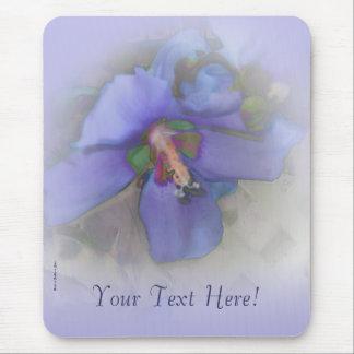 Lavender Blue Hibiscus Mouse Pad